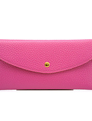 Unisex 's PU Wallet - Pink/Blue/Green/Yellow/Red/Black
