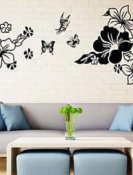 3d papillons de style stickers muraux mur de décalcomanies dans les fleurs pvc stickers muraux