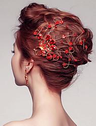 Bride's Peacock Shape Rhinestone Forehead Wedding Hair Accessories 1 PC
