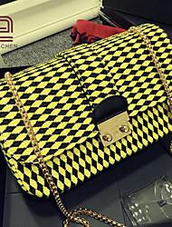 handcee® venta caliente del bolso del patrón elegancia acolchar las mujeres del hombro con la cadena
