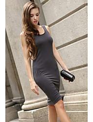 Women's Sexy Back Cross Net Jersey Dress