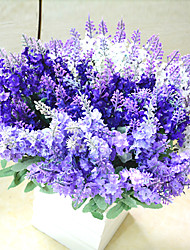 High Quality Artificial Flower Bright Color Lavender Silk Flower for Wedding and Decorative