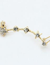 Earring Drop Earrings Jewelry Women Alloy / Cubic Zirconia / Gold Plated 1pc Gold / Silver