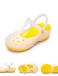 Women's Candy-Colored Resin Material Garden Geta Flat Sandals 2015 New Hot Free Shipping