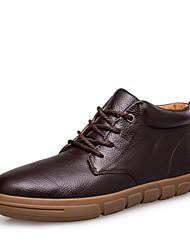 Scarpe da uomo Tempo libero/Ufficio e lavoro/Casual Di pelle Stivali Nero/Marrone