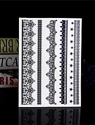 4PCS Temporary Tattoo Sticker Tatouage Black Taty Tatoo Body Tatto Fake Tattoo Body Tattoos Lace Wedding Tattoos