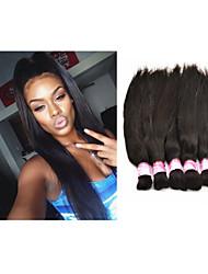 "3pcs/lot 14""-34"" Brazilian Virgin Hair Raw Bulk Hair Straight #1b 300g  Raw Hair Bundle Unprocessed Hair"