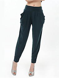 Women's Solid Blue/Pink/Red/Black/Green/Yellow/Gray Loose Pants , Casual