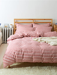 Red Cotton/Polyester King Duvet Cover Sets