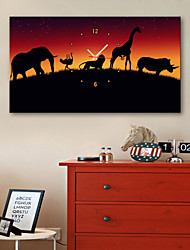 E-HOME® Walking Animals Clock in Canvas 1pcs