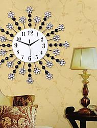 reloj de pared lujosa sala de estar de moda creativa moderna