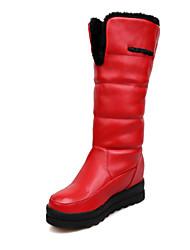 Zapatos de mujer - Plataforma - Botas de Nieve - Botas - Casual - Semicuero - Negro / Rojo / Blanco
