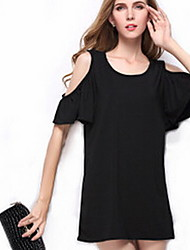 Women's Casual Sleeveless Above Knee Dress (Knitwear)