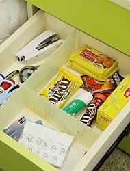 mutável grade gaveta divisor de armazenamento DIY necessidades organizador domésticos conjunto de 5 (cor aleatória)