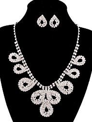 jóias de cobre prata moda longa queda totalmente strass ajuste 9