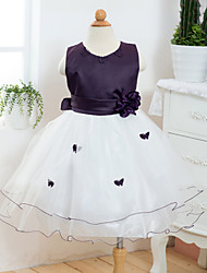 Girl's Cotton/Polyester Sweet Leisure Bowknot Sleeveless Princess Dress