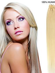 22inch 10st / set 120g clip-in hair remy human hair extensions 6 kleuren voor vrouwen schoonheid