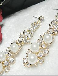 MPL Europe long temperament Pearl Earrings grape