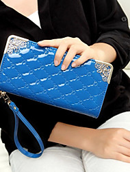 Handcee® Best Seller Patent PU Newest Fashion Lady Clutch Wallet