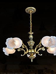 Chandeliers , Traditional/Classic/Vintage/Retro Living Room/Bedroom/Dining Room/Study Room/Office/Hallway Metal