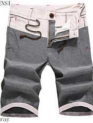 In the summer of 2015 Korean men contracted slim thin waist tie tether seven pants