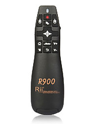rii rt-mwk14 R900 2.4g mini ratón inalámbrico aire ratón volar con puntero láser para conferencias reuniones