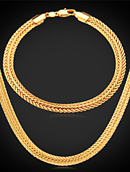 Jewelry Necklaces / Bracelets & Bangles Jewelry set Wedding / Party / Daily / Casual / Sports Alloy / Gold Plated Gold / Rose / Silver
