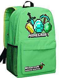 24L Minecraft backpack Enderman day pack New School bag Nylon rucksack Game daypack Green 050