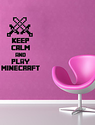 3D Wall Stickers Wall Decals Style Minecraft English Words & Quotes PVC Wall Stickers