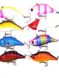 """1 pc Esche rigide / Esca Esche rigide Colori assortiti 11.8g g Oncia mm/3-1/4"""" pollice,Plastica Pesca con esca"""