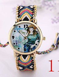 I&VY   New  Fashion   Handmade Rope Bracelet    Watches Women Knitted Colorful Quartz Casual Wristwatch Nation Bracelet