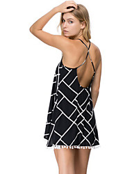 Women's Sexy Beach Casual Party Straps V Neck Mini Dress