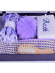Bath Set Including Bath Ball Comb Shower Cap and So On