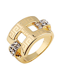 Women's Vintage/Party/Casual Alloy/Gemstone & Crystal Statement Ring