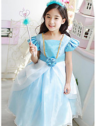 A-line Knee-length Flower Girl Dress - Satin/Tulle Short Sleeve