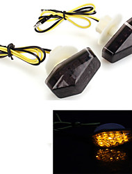 motocicleta 12 leds sinal de volta lâmpada luz indicadora pisca-pisca traseiro para kawasaki (2 peças)
