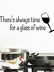 adesivos de parede adesivos de parede do estilo um copo de vinho palavras inglesas&cita parede adesivos pvc