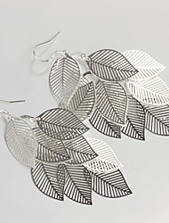 New Products S925 Silver Plated Drop Earring Christmas Gift Leaf Dorp Earring Fine Statement Jewelry
