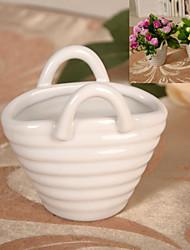 mini-cerâmica flor cesta vaso de flor artificial arranjo casa / decoração do casamento