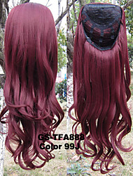 Brand New Female Long Afro Kinky Synthetic Wig 3/4 Wig Heat Resistance Half Wig Curly Blonde Wig Pad For Hair