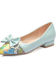 Women's Shoes Flat Heel Comfort/Pointed Toe Flats Dress Green/Pink/White