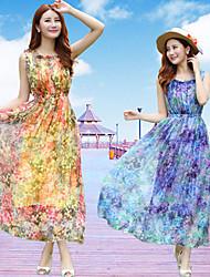 NUNEU   Women's Vintage Square Dresses (Chiffon)