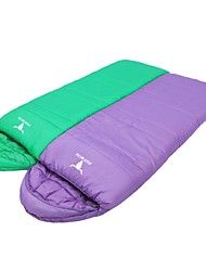 Schlafsack Halb - rechteckiger Schlafsack Einzelbett(150 x 200 cm) -10°C~+10°C Baumwolle 190+30 X 75cm Camping / Strand / Reisen / Outdoor