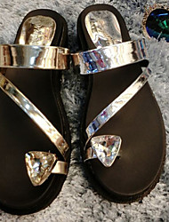Women's Shoes  Low Heel Comfort Sandals Casual Silver/Gold