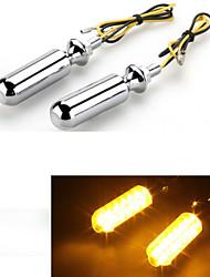 motorrad gelbe LED Blinkerlampe Anzeige 12v (2 Stück)