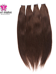 50pcs/lot 100 gram Stock Dark Color Mongolian Remy Tape In Hair Extensions 20 inch Skin PU Weft Hair Extensions NEW!!!