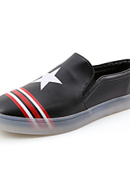 Men's Shoes Casual/Party & Evening Leather Loafers Black/White