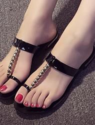 Women's Shoes Flat Heel Comfort Sandals/Slippers Dress/Casual Black/Silver