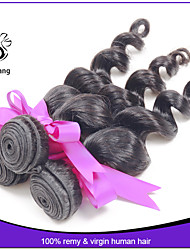 3pcs/lot 7A cheap Peruvian virgin loose wave human hair weave Best quality loose wave Virgin Hair