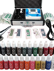 Solong tatouage kit de maquillage permanent stylo de tatouage machine à lèvres sourcils mis 23 encres de maquillage